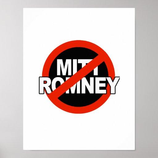 Anti Romney Cross Circle -.png Posters