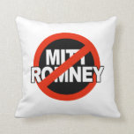 Anti Romney Cross Circle -.png Throw Pillows