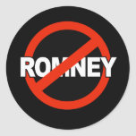 Anti Romney Name -.png Classic Round Sticker