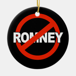 Anti Romney Name -.png Double-Sided Ceramic Round Christmas Ornament