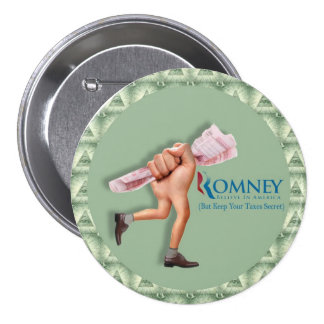 anti-Romney No More Tax (Returns) Button