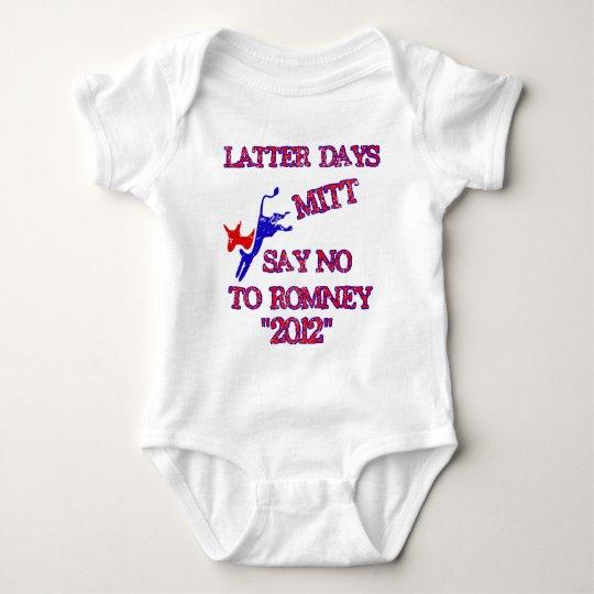Anti Romney- No Romney 2012 Baby Bodysuit