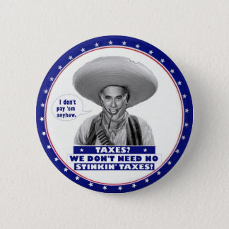 anti-Romney No Taxes Pinback Button