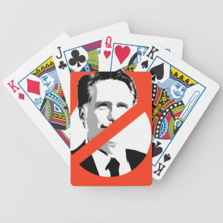 ANTI-ROMNEY BICYCLE PLAYING CARDS