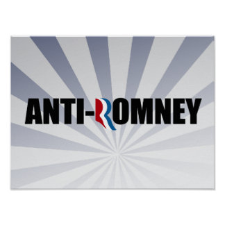 ANTI-ROMNEY - png Posters