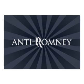 ANTI-ROMNEY png Poster