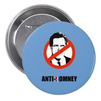 ANTI-ROMNEY - .png Pin Redondo De 3 Pulgadas