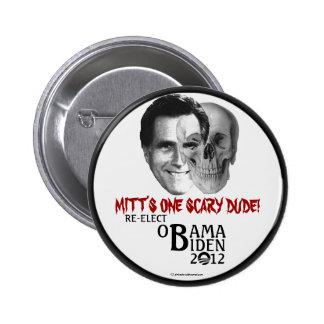Anti-Romney reelija a OBAMA BIDEN 2012 pi político Pin Redondo De 2 Pulgadas