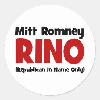 anti Romney RINO Stickers