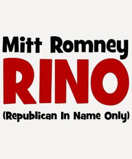anti Romney RINO Shirt