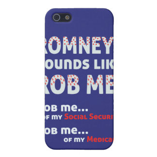 "Anti Romney ""Romney sounds like Rob Me!"" Political iPhone 5 Cover"