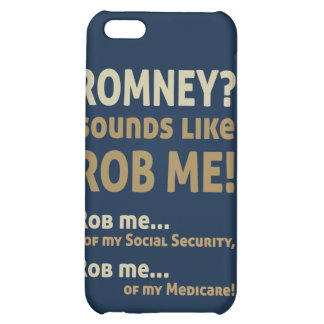 "Anti Romney ""Romney sounds like Rob Me!"" Political iPhone 5C Cases"
