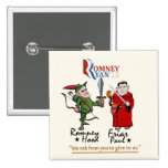 Anti-Romney/Ryan 2 Inch Square Button