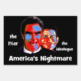 anti Romney Ryan Lawn Signs
