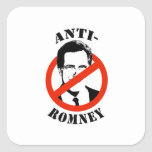 ANTI-ROMNEY - SQUARE STICKERS