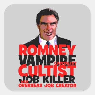 anti Romney Square Sticker