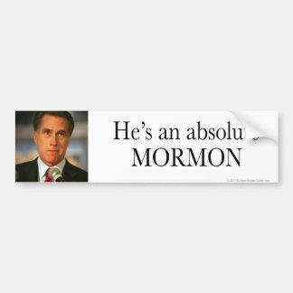Anti-Romney sticker Absolute Mormon Car Bumper Sticker