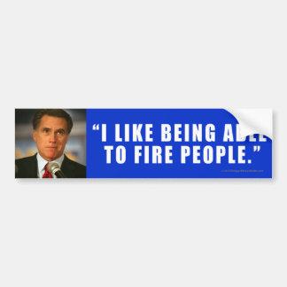 Anti-Romney sticker Fired
