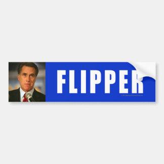 Anti-Romney sticker Flipper