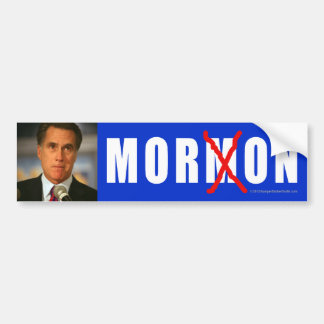 Anti-Romney sticker Moron Car Bumper Sticker