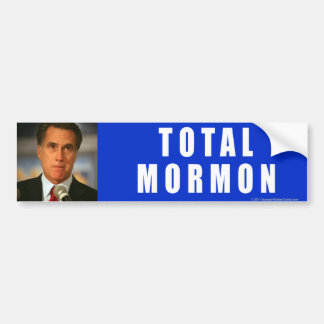 Anti-Romney sticker Total Mormon