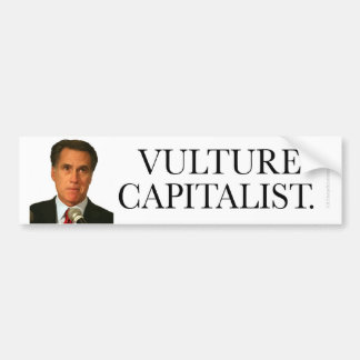 Anti-Romney sticker Vulture Capitalist