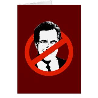 Anti Romney Transparent Greeting Card