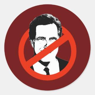 Anti Romney Transparent Classic Round Sticker