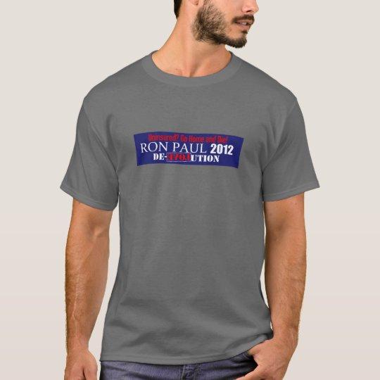 Anti Ron Paul 2012 President Uninsured Die Design T-Shirt