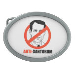 Anti-Santorum Hebillas De Cinturon Ovales