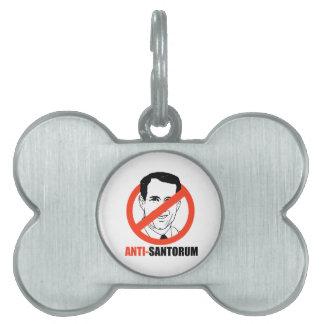 Anti-Santorum Placas De Nombre De Mascota