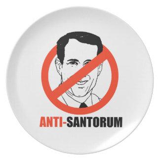 Anti-Santorum Plato De Comida