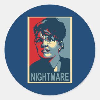 Anti-Sarah Palin Stickers - Nightmare