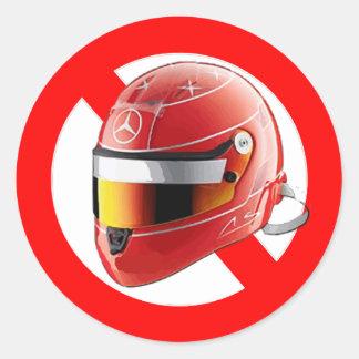 Anti Schumacher Girl Shirt with Logo Classic Round Sticker