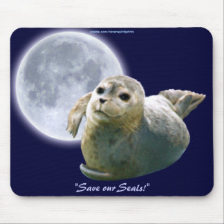 Anti-Sealhunt Seal-Pup & Moon Wildlife Mouse Pad