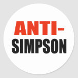 ANTI-SIMPSON ROUND STICKERS