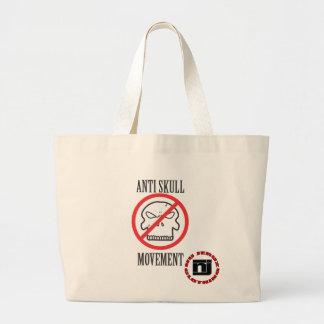 Anti Skull Movement Large Tote Bag