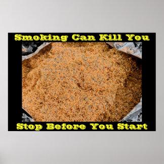 anti smoking posters on Black