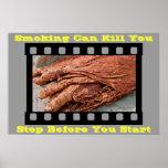 anti smoking posters on Gray