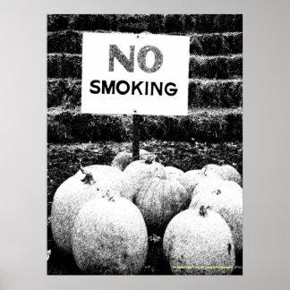 Anti-Smoking Pumpkins - B&W Sketch Poster