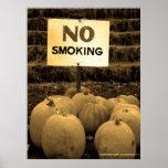 Anti-Smoking Pumpkins - Sepiatone Print