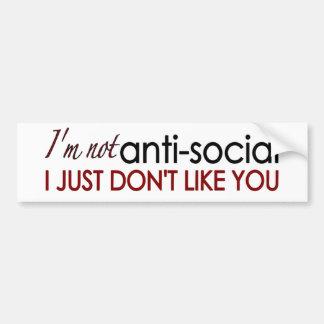 Anti-Social Bumper Sticker