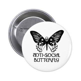 Anti-Social Butterfly Button