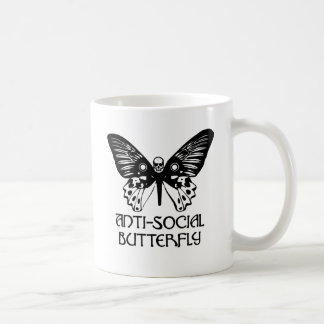 Anti-Social Butterfly Classic White Coffee Mug