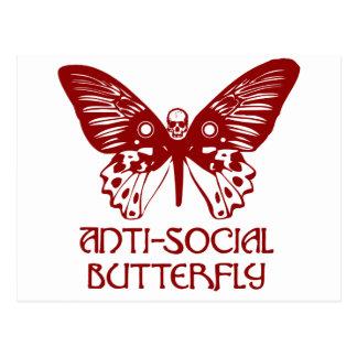 Anti-Social Butterfly Postcard