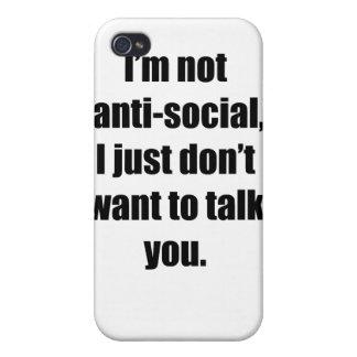 Anti-Social iPhone 4 Cover