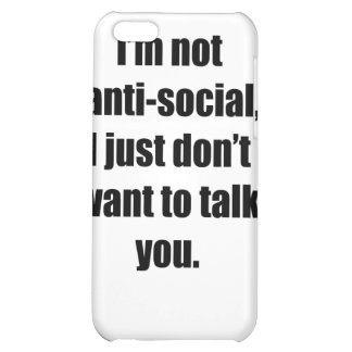 Anti-Social Case For iPhone 5C