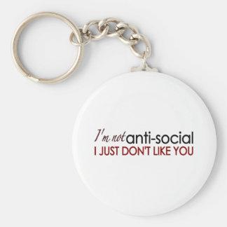 Anti-Social Key Chain