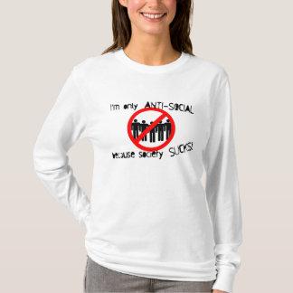Anti-Social Ladies AA Hoody Long Sleeve (Fitted)