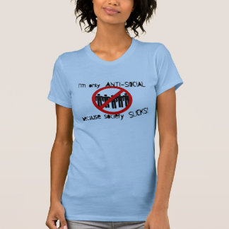 Anti-Social Ladies Twofer Sheer (Fitted) T-Shirt